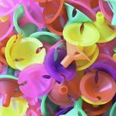 Colorful plastics plastic cup for latex balloon — Stock Photo