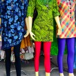 Colorful fashion dress on female mannequins — Stock Photo #61835807