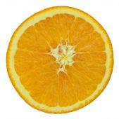 Slice of orange fruit isolated on white with working path — Stock Photo