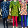 Colorful fashion dress on female mannequins — Stock Photo #76110909