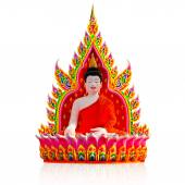Colorful Buddha Carved from Polystyrene foam on white background — Stock Photo