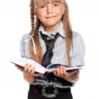 Little girl with notepad — Stock Photo #51838513