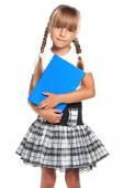 Menina com livro — Foto Stock