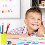 Boy doing homework — Stock Photo #53737449
