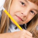 Girl doing homework — Stock Photo #54729599