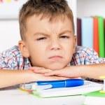 Boy doing homework — Stock Photo #54729619