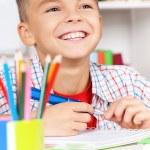 Boy doing homework — Stock Photo #54729639