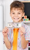 Boy with money — Stock Photo