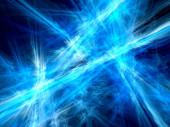 Blå strålar i rymden bakgrund — Stockfoto