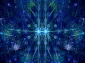 Colorful christmas fractal — Stock Photo
