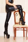 Sexy woman bdsm concept — Stock Photo