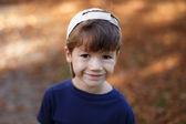 Little boy autumn portrait — Stockfoto