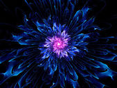 Colorful fractal flower — Stock Photo