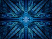 Blue spiritual stained glass — Stock Photo
