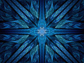 Blue spiritual stained glass — Stockfoto