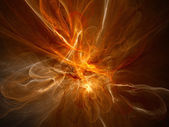 Orange glowing plasma flame — Foto Stock