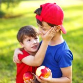 Little boy console brother — Stock Photo
