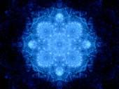 Blue glowing snowflake — Stok fotoğraf