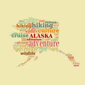 Alaska word cloud — Stock Photo