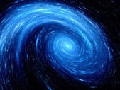 Blue glowing spiral galaxy — Stock Photo
