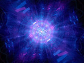 Blue glowing Higgs boson — Stock Photo