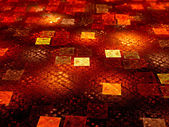 Glowing fiery squares — Foto de Stock