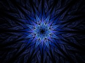 Star shaped blue fractal — Stock Photo