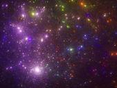 Purple starfield — Stock Photo