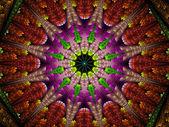 Multicolored fractal ornament — Stock Photo