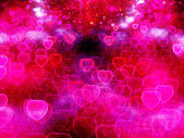 Valentine Hearts Abstract Pink Background — Stock Photo