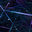 Blue glowing connection grid in space — Stock Photo #61422379