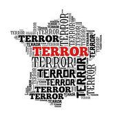 France in terror world cloud — Stock Photo