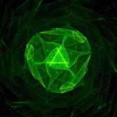Green singularity in space — Stock Photo