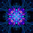 Blue pink multicolored stained glass fractal — Stock Photo #62347877
