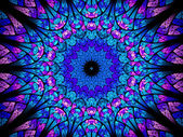 Oriental kaleidoscope fractal — Stock Photo