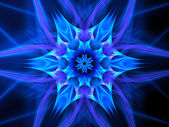 Colorful glowing mandala in space — Stock Photo