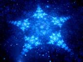 Star shaped fractal in space — Stock fotografie
