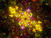 Multicolored fractal artwork — Foto de Stock