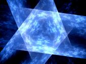 Blue glowing multidimensional surface — Stock Photo