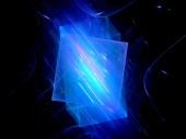 Blue teknoloji fraktal — Stok fotoğraf