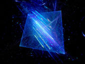 Blue glowing squares with motion lines — Stockfoto