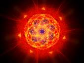 Colorful vibrant fiery magic mandala in space — Stock Photo