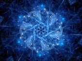 Blue glowing magic snowflake — Stock Photo