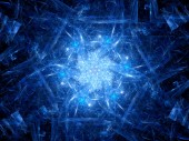 Blue glowing new technology in space — Stock Photo