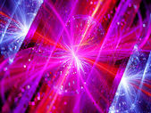 Colorful multidimensional energy field with particles — Stock Photo