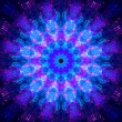 Multicolored glowing fractal kaleidoscope mandala in space — Stock Photo #69065409