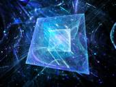Blue glowing squares technology — Stock Photo