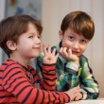Little boys doing math exercise — Stock Photo #70392919