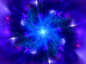 Magical blue explosion in space — Stock Photo