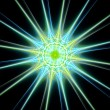 Multicolored glowing star fractal space object — Stock Photo #74361927